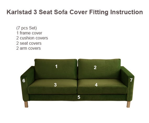 Ikea Karlstad 3 Seat Sofa Cover, Ikea Karlstad Replacement Cover, Ikea  Karlstad Sofa Cover, Karlstad Sofa Slipcover, Karlstad Couch Cover