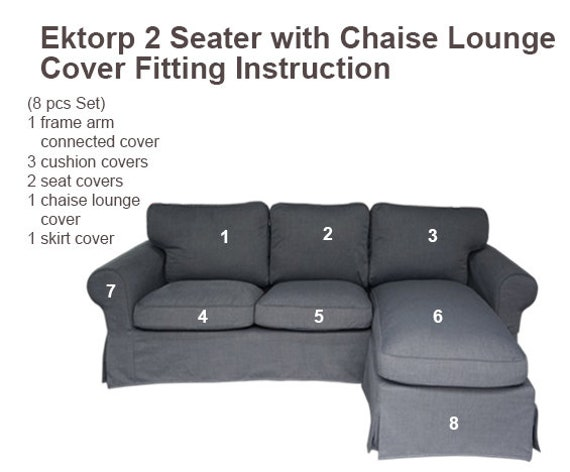 Excellent Ektorp Cover Ikea Ektorp 2 Seat With Chaise Lounge Cover Ektorp Slipcover Ektorp Sofa Cover Ikea Sofa Cover Ikea Slipcover Custom Made Theyellowbook Wood Chair Design Ideas Theyellowbookinfo