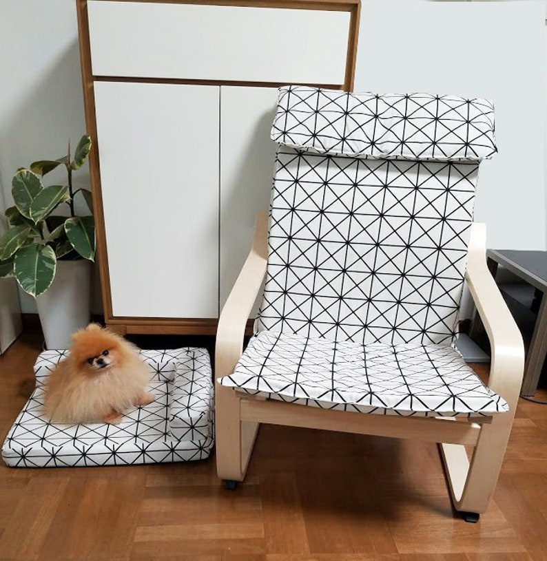 Ikea POÄNG Slipcover with selective matching dog bed image 3