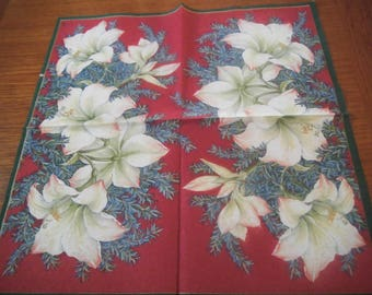 """Nice pattern """"Christmas Lily"""" paper TOWEL"""