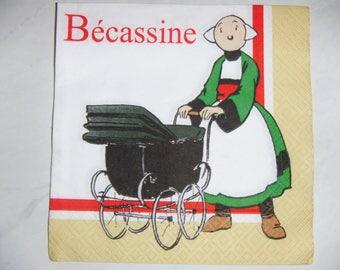 "Nice pattern ""Bécassine 2"" paper TOWEL"