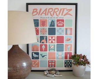 Illustrative poster of Biarritz