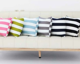 Scandinavian striped 100/% Cotton Fabric BY THE YARD Modern 30mm stripes JC4//71@