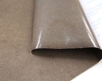 2pcs Vintage brown Faux leather FABRIC STICKER SHEET //DIY craft self adhesive FH