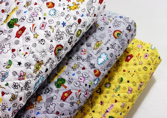 Floral rabbit 100/% Cotton Fabric Animal rabbits flowers bunny quilting JC5//22*