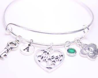 Sweet Sixteen Bracelet, Sweet 16 bangle, Gift to her, Gift to Daughter, Gift to Friend, Gift to Niece, 16th Birthday Gift, Gift to Girl