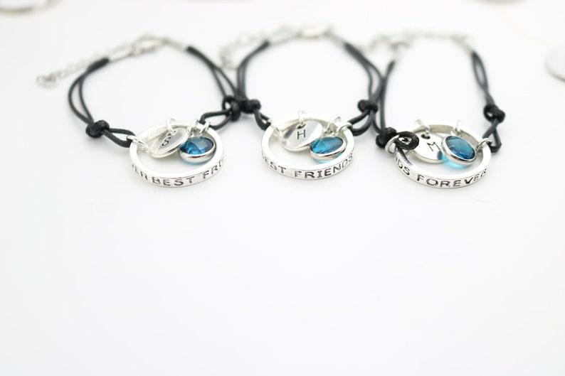 3 BFF gift Unique gift set of 3 Three friend gift 3 Best Friend Bracelets Friend Jewelry Friendship for 3 Matching Best Friend forever