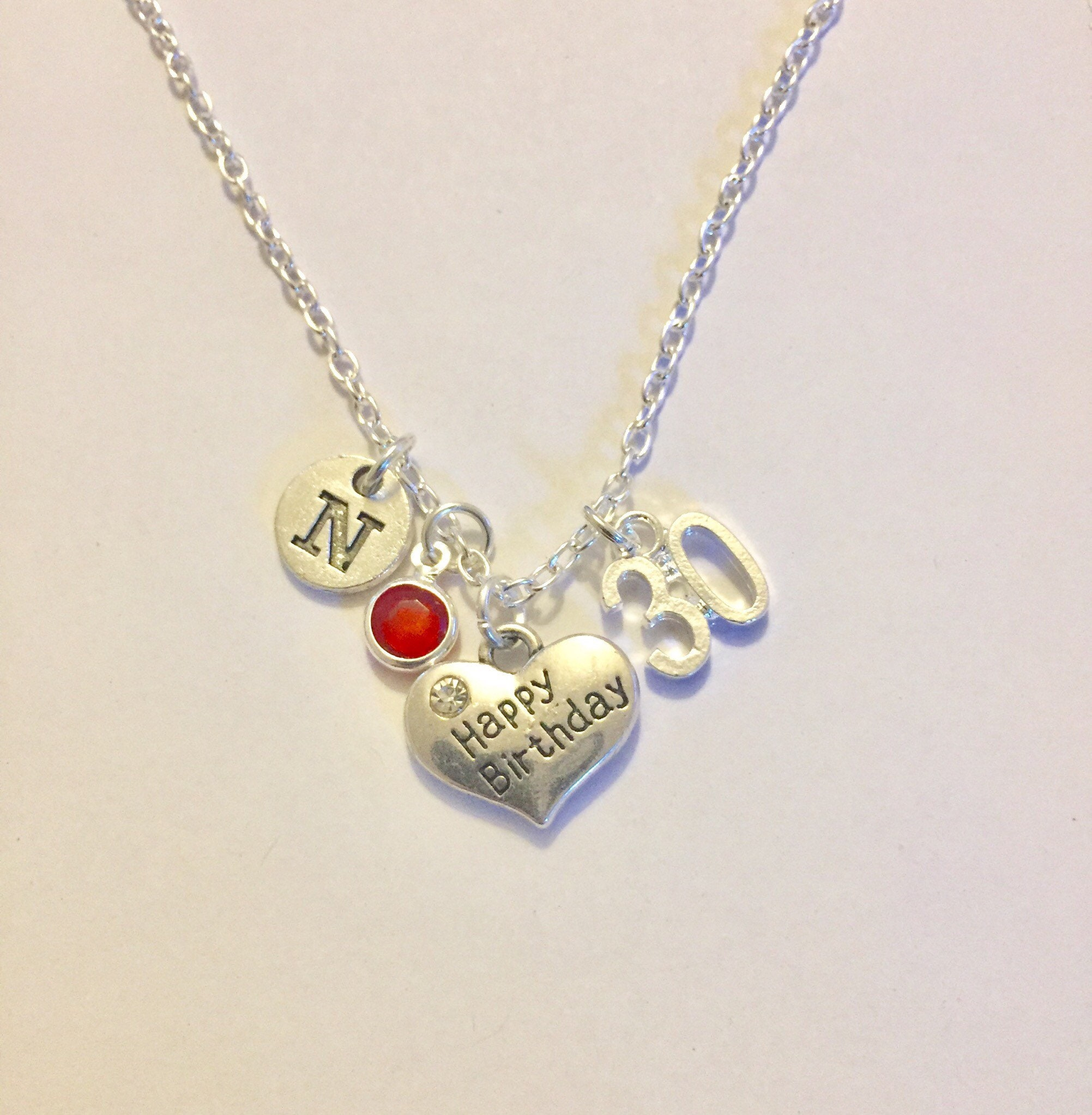 30th Birthday Necklace Gift Happy To Daughter