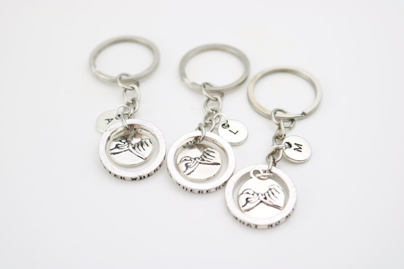 Christmas Sisters Mom BFF keychains Best Friend Gifts Set of 2 3 4 5 6 7 8 9 10 Unique Custom Personalized Friendship keyrings Family