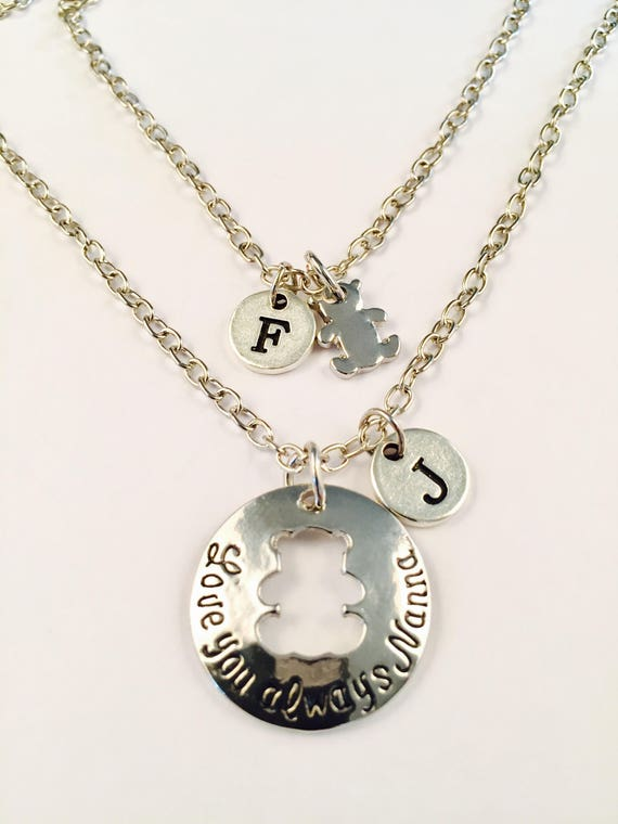 925 STERLING SILVER NANNY NECKLACE /& KEYRING SET Charm Pendant Unique Love Gift