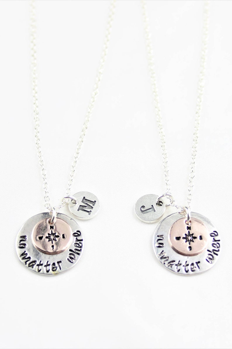 No matter where necklace gift for Best friend necklace gift for her distance friend matching jewelry for couple moving away gift for him