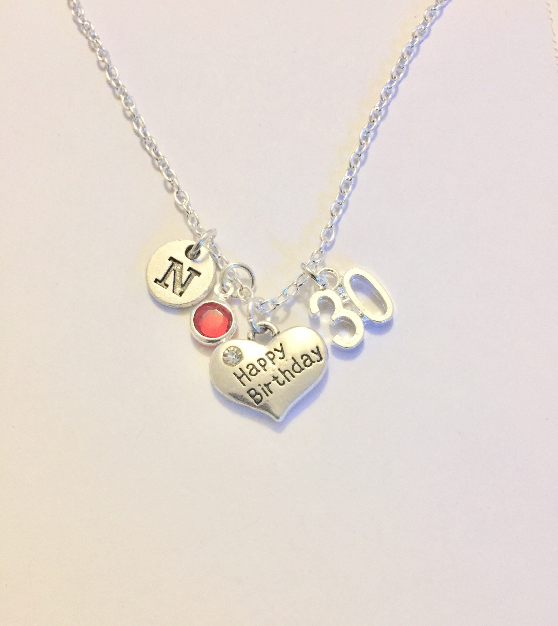 30th Birthday Necklace Gift Happy To Daughter Sister Friend BD Gifts