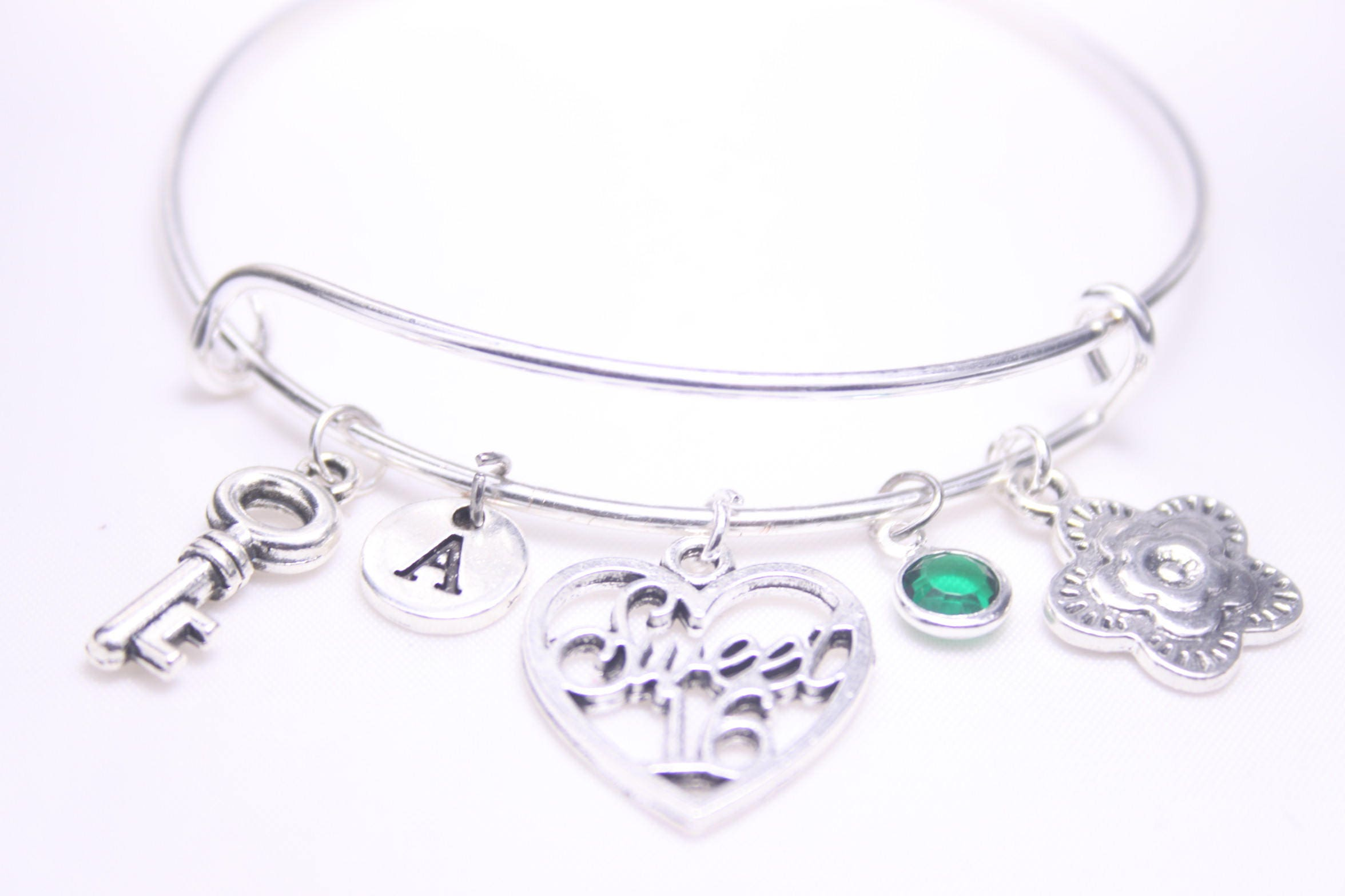Sweet Sixteen Bracelet 16 Bangle Gift To Her Daughter Friend Niece 16th Birthday Girl