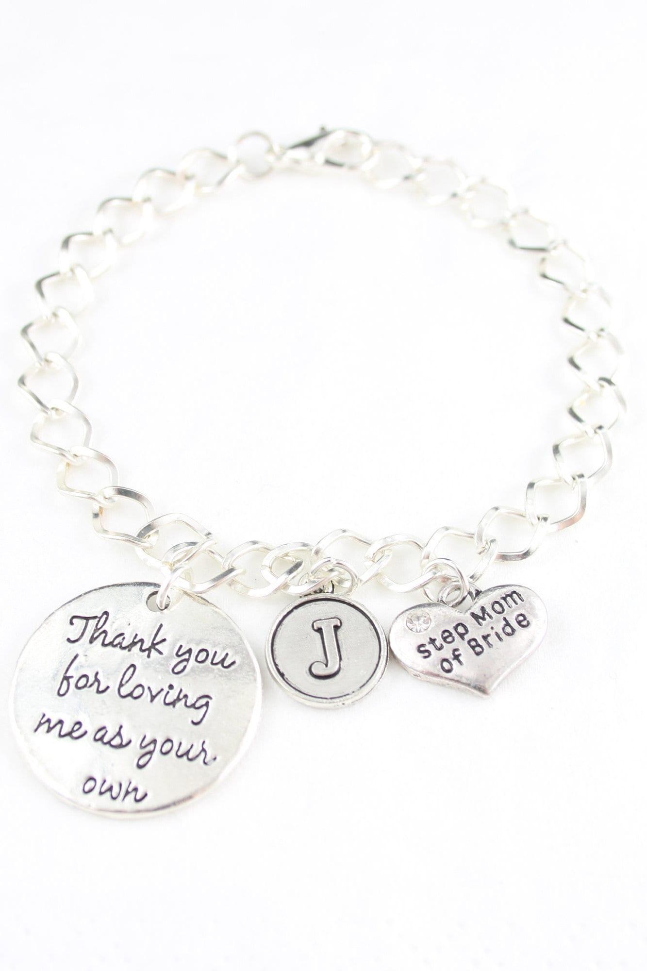 gifts for groom mother bracelet for bride step mom wedding bracelets mother in law bracelet appreciation parents in law wedding favors