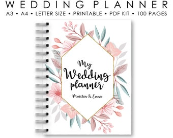 wedding planner printable printable wedding planner engagement gift rustic wedding planner book wedding organizer to do wedding list