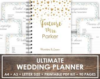 wedding planner printable wedding binder printables bridal etsy