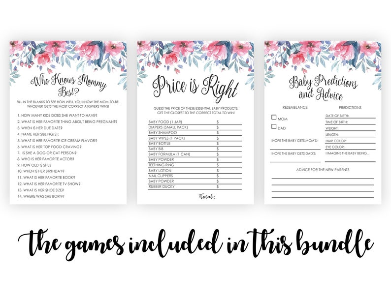 Printable Baby Shower Games Rose Gold Baby Shower Games Pack Rose Gold Baby Shower Ideas 7 Baby Shower Games Bundle Baby Shower