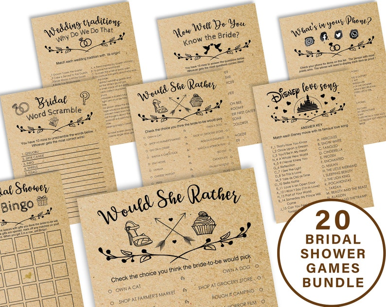 c88a4b3f02de Bridal shower games printable Price is Right Bridal Shower