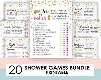 Porn or Polish, Porn or Poland, Unique Bachelorette Party Game, Bridal Shower Game, Favor Tags, INSTANT DOWNLOAD, Digital, Printable