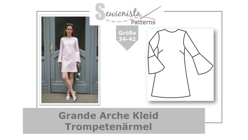 E-Book  Grande Arche Kleid Trompetenärmel image 0