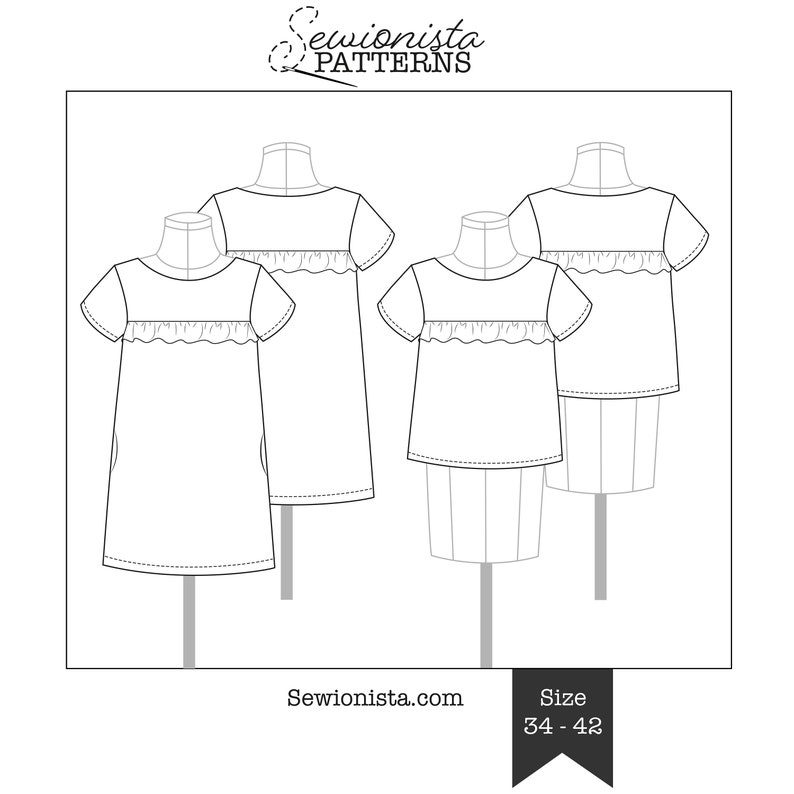 E-Book  Falaise Bluse & Kleid Schnittmuster image 0