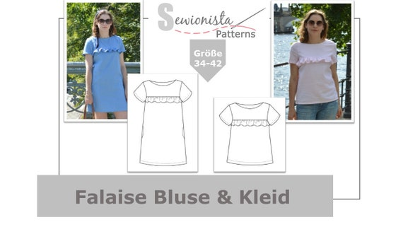 E-Book Falaise Bluse & Kleid Schnittmuster | Etsy