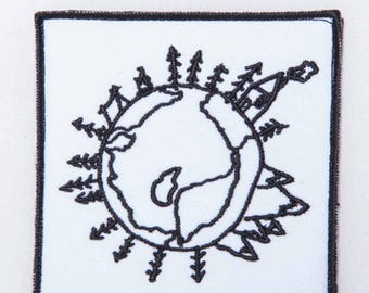 Earth - Embroidery patch