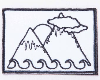 Mountains embroidery patch