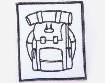 Backpack embroidery patch