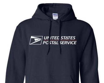USPS Navy Blue Hooded Postal Sweatshirt. All Sizes Available!