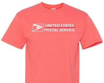 USPS Coral Silk Short Sleeve Postal Shirt  - All sizes available!