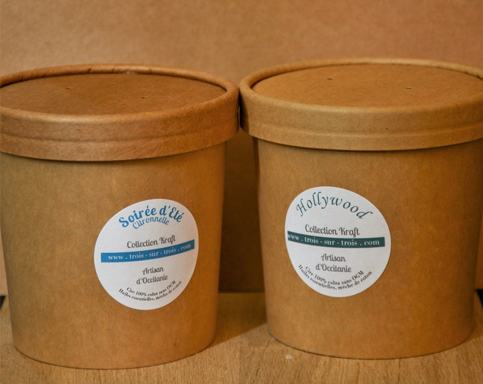 Rapeseed wax candles with essential oils SILO