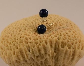BO BOLITA AZUL Silver and Lapis Lazuli earings