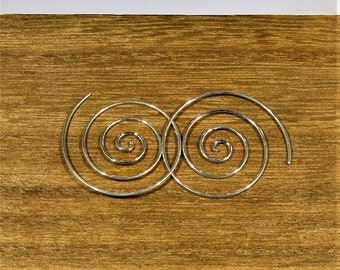 BO CARACOLES Earings made of silver wire forming a spiral