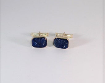 VALIENTE buttons of cufflinks in silver and lapis lazuli