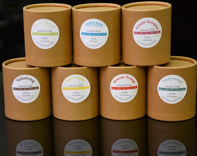 Rapeseed wax candles with essential oils Kraft