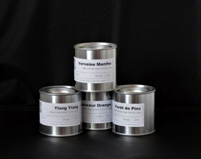 Rapeseed wax candles with essential oils PAINT BOX
