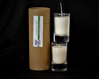 2 Rapeseed wax candles with essential oils IS10