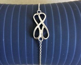 BR INFINITO DOBLE Silver Marine Bracelet