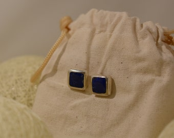 BO TICHULI OLIVARES Silver and Lapis Lazuli earings