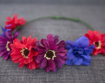 Spring Daisy Crown