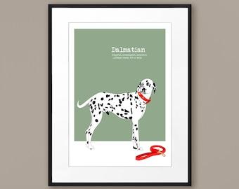 69fbd66e Dalmatian dog print, Custom Dalmatian art gift