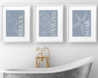coastal bathroom art etsy - Coastal Bathroom