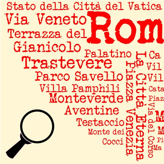 Love Rome City Print Rome Places Wall Art
