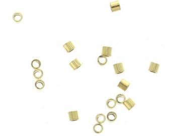 Perles à écraser couleur dorée 8 gr environ 400 unités diamétre 2 mm