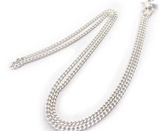 Silver mesh chain 2mm 44cm