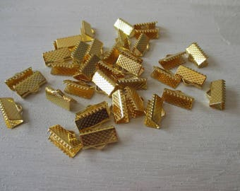 set of 10 ends smooth gold tone