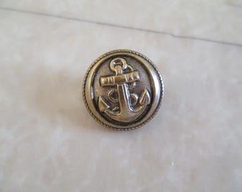"""""""bronze"""" an anchor button"""