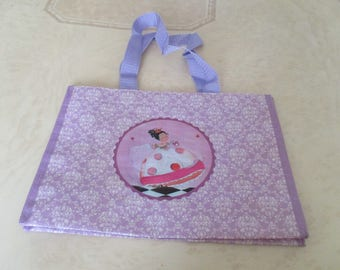 Purple plastic bag