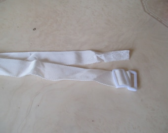 long white adjustable strap with buckle